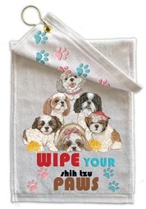 Shih Tzu Paw Wipe Towel