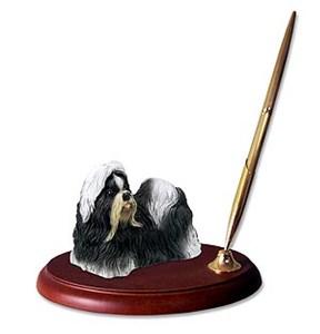 Shih Tzu Pen Holder (Black & White)