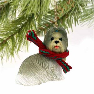 Shih Tzu Tiny One Christmas Ornament Mixed