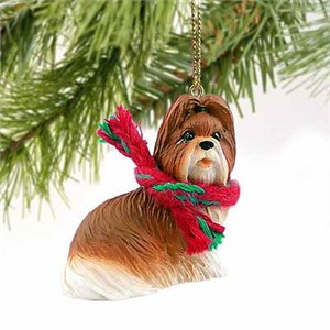 Shih Tzu Tiny One Christmas Ornament Tan