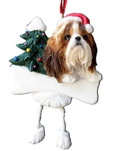 Shih Tzu Christmas Tree Ornament - Personalize
