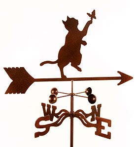 Shorthair Cat Weathervane