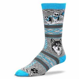 Siberian Husky Blue Grey Socks