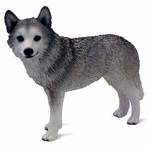 Siberian Husky Figurine Grey-Wht