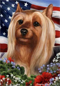 Silky Terrier House Flag
