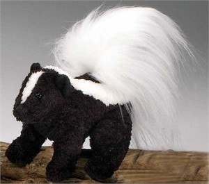 Skunk Plush Stuffed Animal 6 Inch