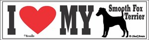 Smooth Fox Terrier Bumper Sticker I Love My