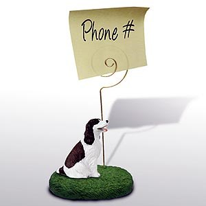 Springer Spaniel Note Holder (Liver & White)