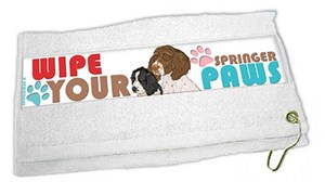 Springer Spaniel Paw Wipe Towel