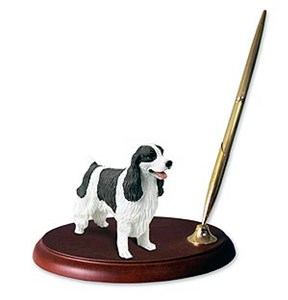 Springer Spaniel Pen Holder (Liver & White)
