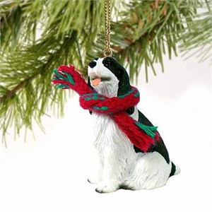 Springer Spaniel Tiny One Christmas Ornament Black-White