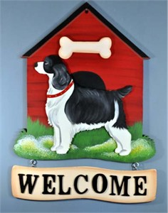 Springer Spaniel Welcome Sign