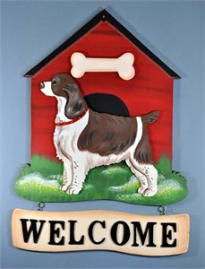 Springer Spaniel Welcome Sign Liver