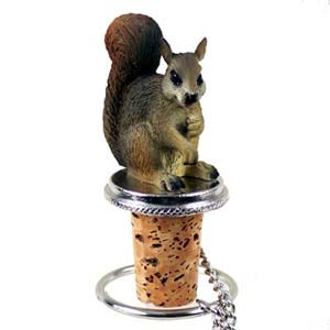 Squirrel Bottle Stopper (Red)