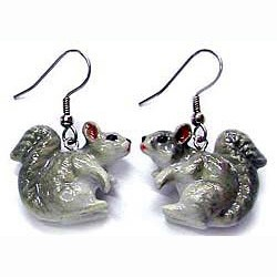Squirrel Earrings True to Life