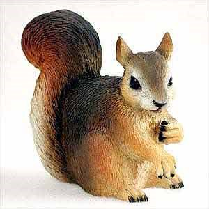 Squirrel Figurine Red