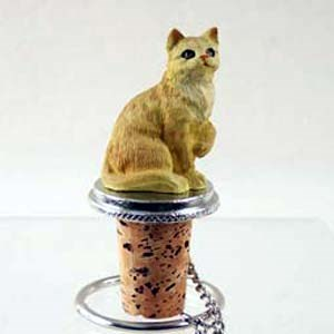 Tabby Cat Bottle Stopper (Red)
