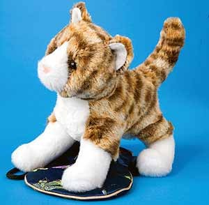 Tabby Cat Stuffed Plush Animal