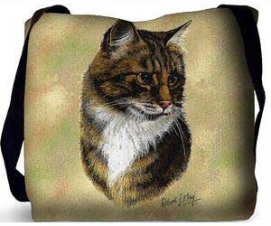 Tabby Cat Tote Bag (Brown)