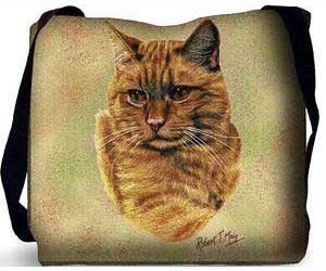 Tabby Cat Tote Bag (Red)