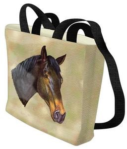 Thoroughbred Horse Tote Bag (Dark)