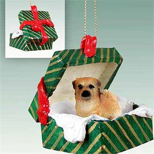 Tibetan Spaniel Gift Box Christmas Ornament