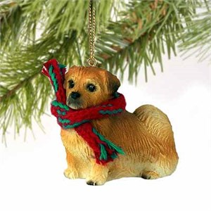 Tibetan Spaniel Tiny One Christmas Ornament