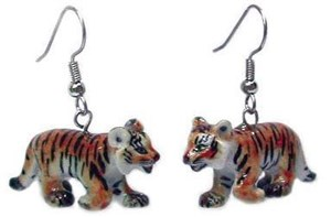 Tiger Earrings True to Life