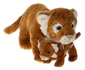 Tiger With Baby Plush Stuffed Animal 12""