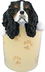 Tri Colored Cavalier King Char Pencil Holder