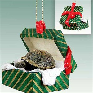 Turtle Gift Box Christmas Ornament