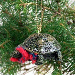 Turtle Tiny One Christmas Ornament