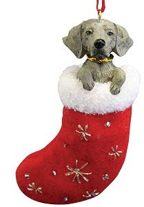 Weimaraner Christmas Stocking Ornament