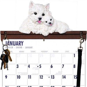 West Highland Terrier Calendar Caddy