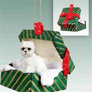 West Highland Terrier Gift Box Christmas Ornament