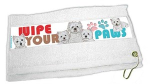 West Highland Terrier Paw Wipe Towel