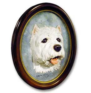 West Highland Terrier Sculptured Portrait