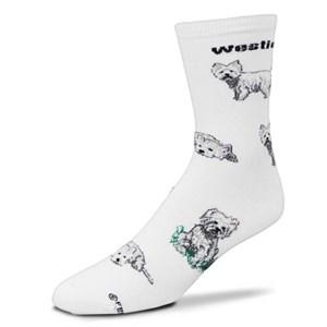 Westie Poses Socks