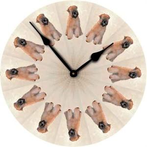 Wheaten Terrier Wall Clock