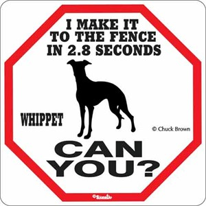 Whippet 2.8 Seconds Sign