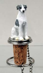 Whippet Bottle Stopper (Gray & White)