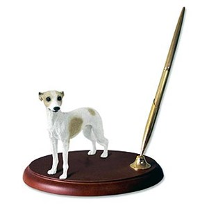Whippet Pen Holder (Tan & White)