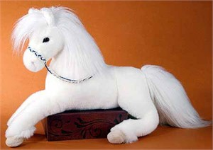 White Horse Stuffed Plush Animal
