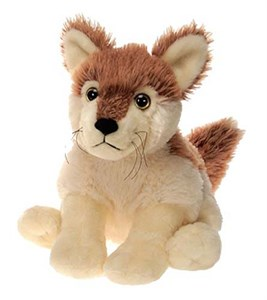 "Bean Bag Wolf Plush Stuffed Animal 10"""