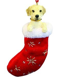 Yellow Lab Christmas Stocking Ornament