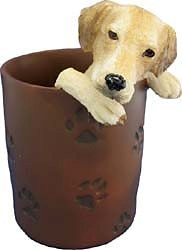 Yellow Lab Pencil Holder
