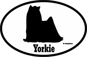 Yorkshire Terrier Bumper Sticker Euro
