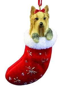 Yorkshire Terrier Christmas Stocking Ornament