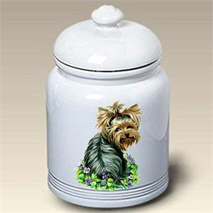 Yorkshire Terrier Puppy Cut Treat Jar