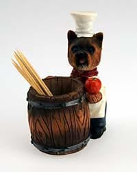 Yorkshire Terrier Toothpick Holder Puppy Cut